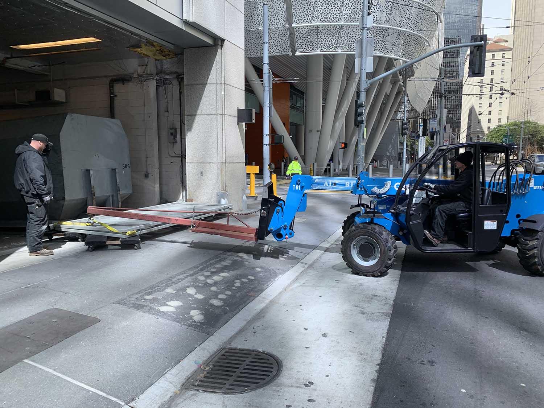 Union Door team replacing a steel commercial door