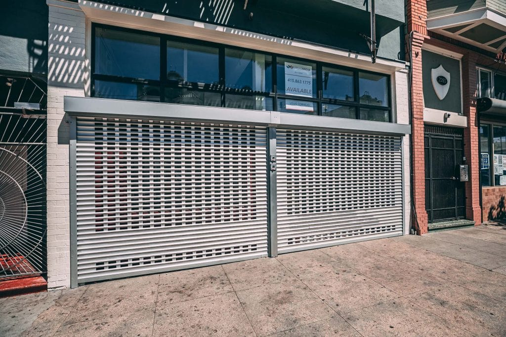 Rolling grilles installed in San Francisco