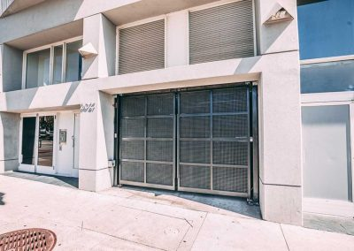 Commercial automatic security gates installed on San Francisco building