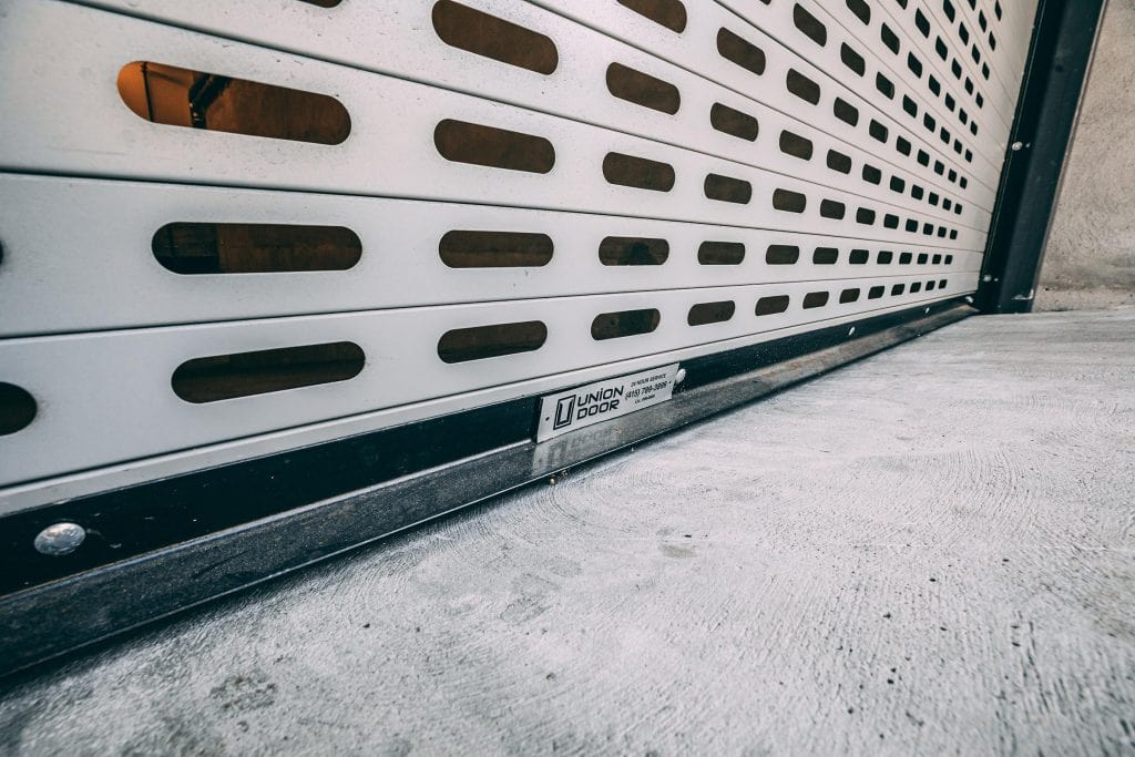 Metal grille installed by Union Door