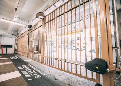 Automatic gate doors to parking garage