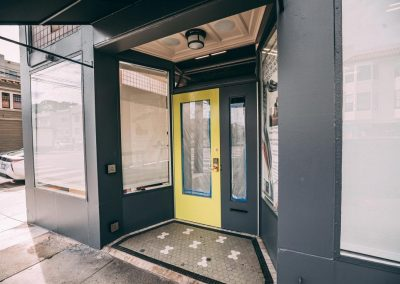 Glass entrance door installed by Union Door