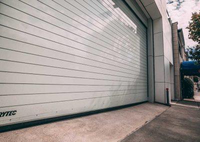 Custom commercial steel door installed for building