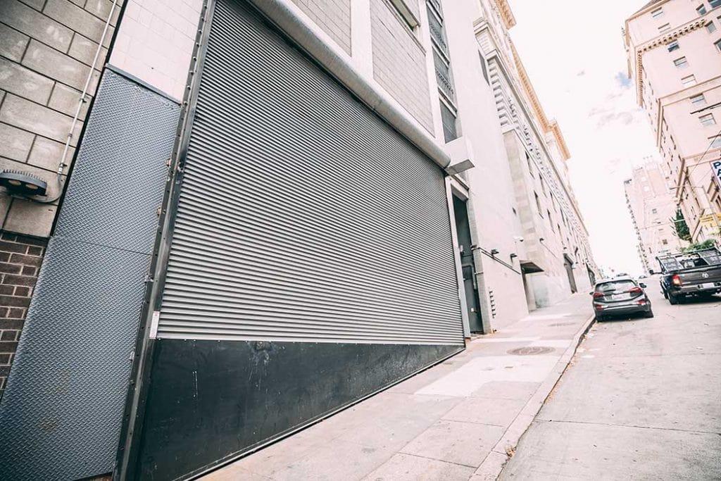 Custom commercial steel rolling door in San Francisco