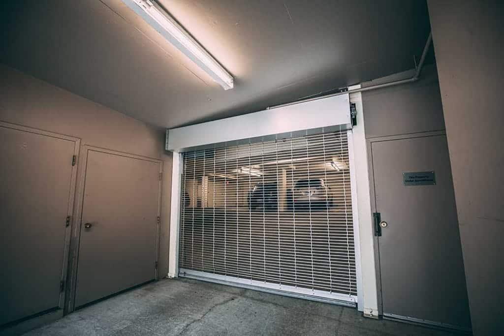 Custom rolling gate to parking garage