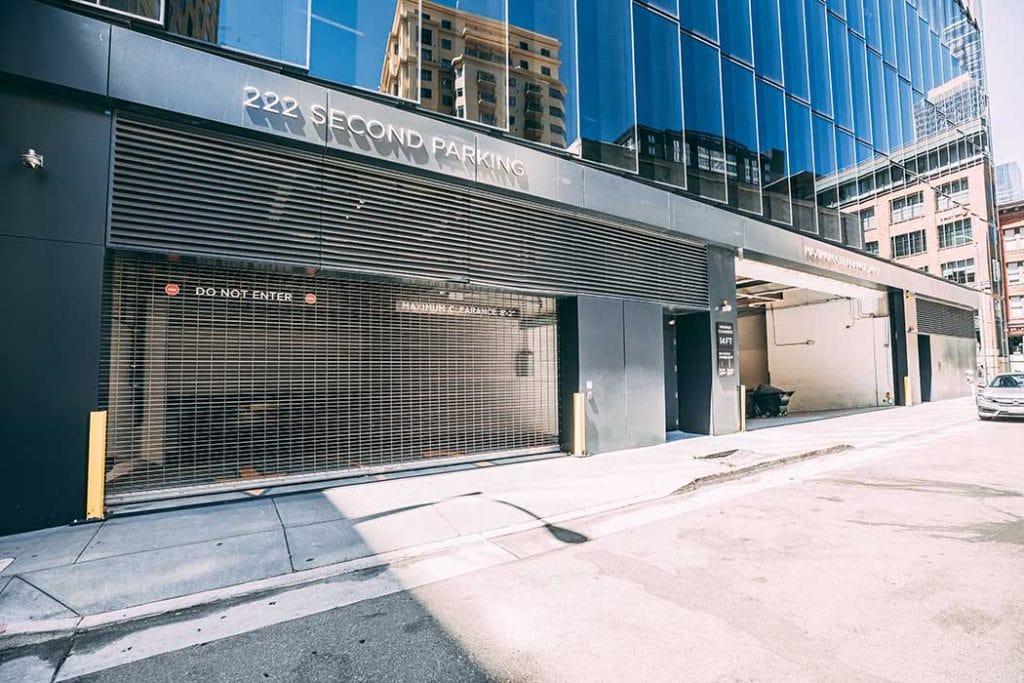 Entrance to LinkedIn's parking garage